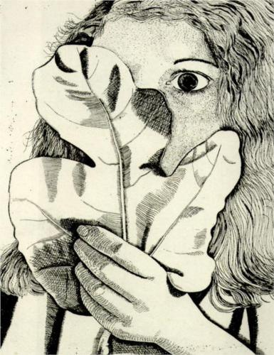 Girl With Fig Leaf, 1948