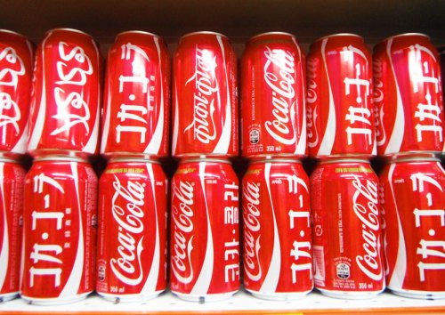 Cambuci - Coca Cola has special edition cans that have its name written in different languages.