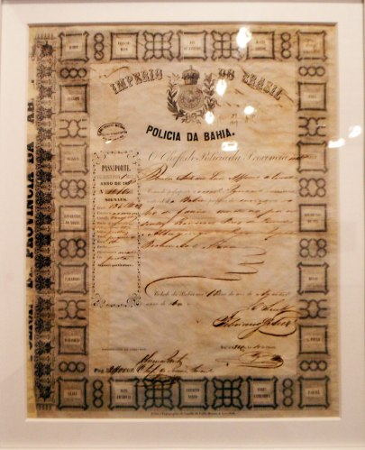 Slave's passport