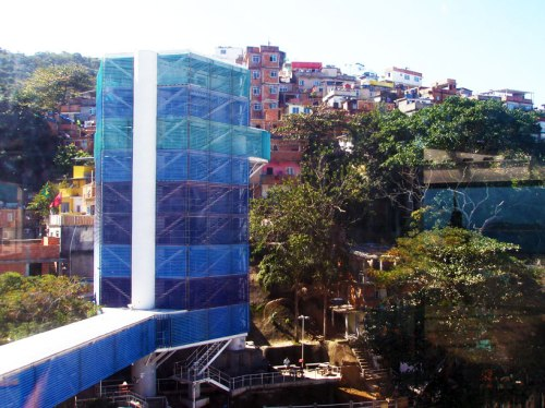Mirador da Paz - an elevator that connects Ipanema with Morro do Pavão. This is one view, facing the morro.